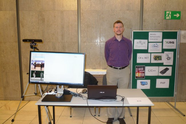 Photo of our presentation stand
